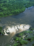 Aerial View of Santo Antonio Waterfall in the Rainforest on the Jari River Photographic Print by Jacques Janqoux