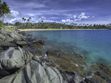 Napili Bay and Beach, Maui, Hawaii, USA Photographic Print by David Fleetham