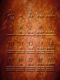 Illustration of a Portion of the Mayan Sacred Calendar Carved on Stone Photographic Print by Victor Habbick