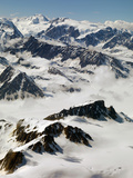 Aerial View of the Tordrillo Mountains and Mount Spurr Just West of Anchorage Photographic Print by Paul Andrew Lawrence