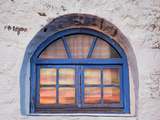 Window with Sunset Reflection, Mykonos, Greece Photographic Print by Adam Jones