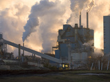 Air Pollution with Toxic Chemical Emissions from a Pulp and Paper Mill Photographic Print by Marc Epstein