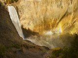 The Lower Yellowstone River Drops 306Ft (93M) at Lower Falls, Yellowstone Np Photographic Print by Don Grall