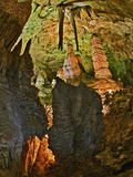Stalactites and Stalagmites in the Hall of Giants, Big Room, Carlsbad Caverns Np Photographic Print by Adam Jones