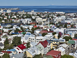 High Angle View of Reykjavik, Iceland Photographic Print by Adam Jones