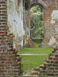 Red Brick Ruins of the Church of Prince Williams Parish known as Sheldon Photographic Print by Adam Jones
