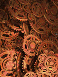 Conceptual Illustration of Old Cogs and Gears Photographic Print by Victor Habbick