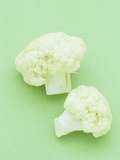 Raw Cauliflower Stems, a Fresh, Nutritious Snack Photographic Print by Wally Eberhart