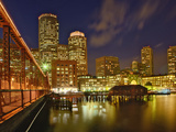 Boston Skyline at Dusk, Boston, Massachusetts Photographic Print by Adam Jones