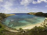 The Hanauma Bay Nature Preserve Is Coastal and Marine Preserve Located on Southeast Oahu Fotografie-Druck von David Fleetham