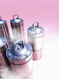 Conceptual Image of Cryogenic Canisters Which Could Hold Human Organs or Other Specimens Photographic Print by Victor Habbick