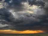 Storm Clouds over Grassy Plains of the Masai Mara Game Reserve at Sunset, Kenya, Africa Photographic Print by Adam Jones