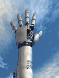Conceptual Illustration of a Robot Arm Reaching Upward Photographic Print by Victor Habbick