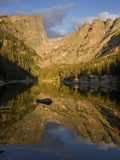 Hallett Peak (12,713 Feet) Is Reflected in Dream Lake High in Rocky Mountain National Park Photographic Print by Don Grall