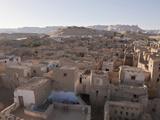 View on Old Town El Qasr in Dakhla Oasis, Libyan Desert, Egypt Photographic Print by Reinhard Dirscherl