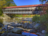 Albany Covered Bridge over Swift River, White Mountain National Forest, New Hampshire Photographic Print by Adam Jones