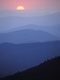 Sunrise over the Southern Appalachian Mountains, Great Smoky Mountains National Park Photographic Print by Adam Jones