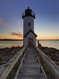 Annisquam Lighthouse at Sunset, Wigwam Point, Ipswitch Bay, Near Gloucester, Massachusetts Photographic Print by Adam Jones