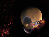 Bussard Ramjet Is a Theoretical Method of Spacecraft Propulsion Photographic Print by Victor Habbick