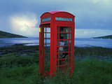 Phone Box or Booth on the Edge of Nowhere, Isle of Rum, Scotland Photographic Print by Chris Linder