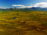 Aerial View of Late Summer/Early Fall Foliage in the Brooks Range of Alaska, USA Photographic Print by Paul Andrew Lawrence