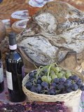 Grapes, Bread, Wine, Cheese Exhibit, La Festa Dell'Uva, Impruneta, Italy, Tuscany Lámina fotográfica por Adam Jones