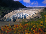 Exit Glacier Near Seward in the Fall, Exit Glacier Flows Down From The Harding Icefield Photographic Print by Paul Andrew Lawrence