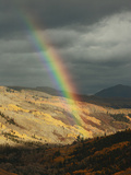 A Rainbow, in Autumn, Arcs over the Ilium Valley Near Telluride Photographic Print by Don Grall