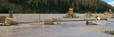 Salmon Fishing Using Fish-Wheels in the Copper River, Alaska, USA Fotoprint van Paul Andrew Lawrence