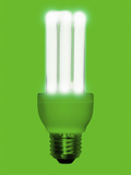 Low Energy Fluorescent Bulb Photographie par Victor Habbick