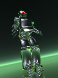 Humanoid Robot Illustration in the Fashion of the Honda Robot Called Asimo Photographic Print by Victor Habbick