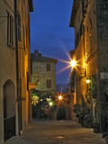 Twilight in Pienza, Italy, Tuscany Photographic Print by Adam Jones