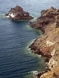 Coastline of Imerovigli, Santorini, Greece Photographic Print by Adam Jones