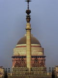 Column at the Front Gate of Parliament House of Delhi Photographic Print by Adam Jones