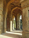 Columns on Tomb of Mohammed Shah, Lodhi Gardens, New Delhi, India Photographic Print by Adam Jones