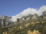 Fog on Table Mountain and the Twelve Apostles Above Cape Town, South Africa Photographic Print by Tim Hauf