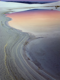 Dusk Sky Reflected in a Pool of Water from Recent Rains, White Sands National Monument, New Mexico Fotografie-Druck von Adam Jones