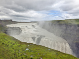 Gulfoss Waterfall, the Golden Waterfall, Iceland Photographic Print by Adam Jones