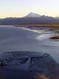 Mount Redoubt Volcano from Low over Redoubt Bay in the Cook Inlet of Alaska Photographic Print by Paul Andrew Lawrence