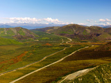 Aerial View of the Trans Alaska Oil Pipeline and the Dalton Highway in the Brooks Range Photographic Print by Paul Andrew Lawrence