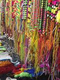 Beads and Yarns, Pushkar Fair, India Photographic Print by Adam Jones