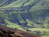 Pattern on a Mountain Slope, Iceland Photographic Print by Adam Jones