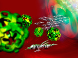 Nanorobots are Seeing Been Injected into the Body Where They Search Out and Eradicate Found Viruses Photographic Print by Victor Habbick