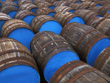 Painted Whiskey Barrels, Scotland Photographic Print by Chris Linder