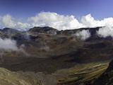 Panoramic View from Kalahaku Overlook across Haleakala Crater Photographic Print by David Fleetham