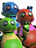 Toy Robots Photographic Print by Victor Habbick