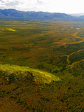 Aerial View of Late Summer/Early Fall Foliage in the Brooks Range in Alaska, USA Photographic Print by Paul Andrew Lawrence