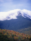 Autumn Colors in the Mixed Forests Below the Snowcapped Presidential Range Photographic Print by Adam Jones