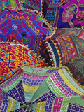 Colorful Umbrella Fabrics, Pushkar Fair, India Photographic Print by Adam Jones