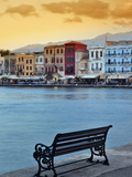 Chania at Dusk, Crete, Greece Fotografisk tryk af Adam Jones